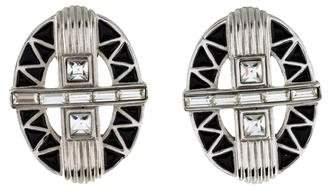 Givenchy Crystal & Enamel Clip-On Earrings