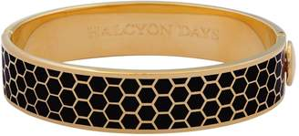 Halcyon Days Gold Plated Honeycomb Bangle