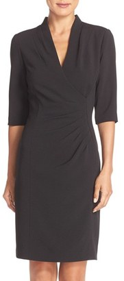 Women's Tahari Pleated Crepe Sheath Dress $128 thestylecure.com