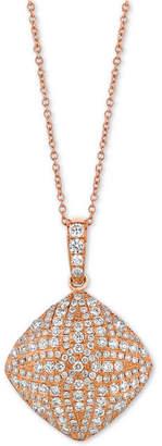 """LeVian Le Vian Diamond Pave 18"""" Pendant Necklace (9/10 ct. t.w.) in 18k Rose Gold"""