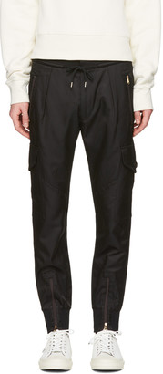 Paul Smith Black Multi-Pocket Cargo Pants $850 thestylecure.com