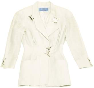 Thierry Mugler Green Linen Jacket for Women Vintage