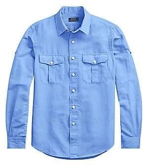 Polo Ralph Lauren Men's Roll-Tab Sleeve Sport Shirt