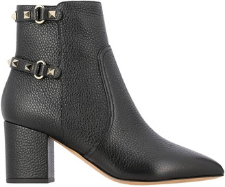 Valentino Heeled Booties Rockstud Boot With Buckles And Studs