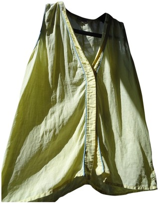 Gianni Versace Yellow Linen Top for Women Vintage