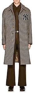 Gucci Men's NY YankeesTM Houndstooth Wool Coat - Brown