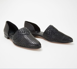 Vince Camuto Suede or Leather Perforated Flats - Reshila