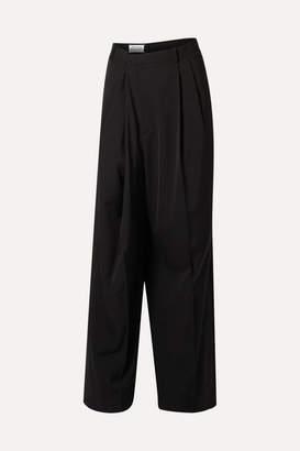 Maison Margiela Asymmetric Crepe Pants - Black