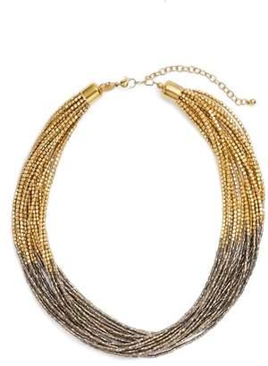 Tasha Seed Bead Multistrand Short Necklace