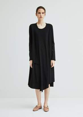 Y's Long Sleeve Double Layered Dress