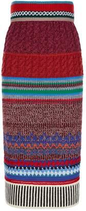 Burberry Knitted Midi Skirt