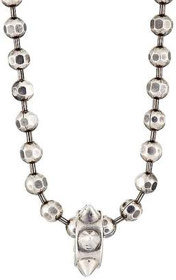 Emanuele Bicocchi Men's Spiked Charm On Faceted Ball Chain