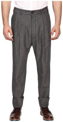 Vivienne Westwood Herringbone Stripe James Bond Trousers Men's Casual Pants
