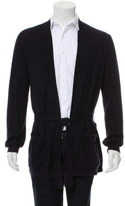 Dries Van Noten Wool-Blend Houndstooth Cardigan