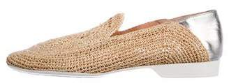 Clergerie Woven Raffia Loafers