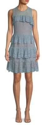 MICHAEL Michael Kors Lace Mix Flounce Dress