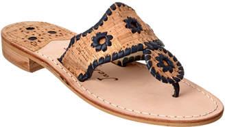 Jack Rogers Makeup Leather & Cork Sandal
