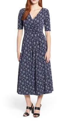Chaus Cosmic Dot Faux Wrap Dress