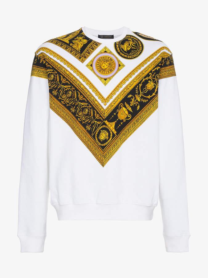 Baroque cotton sweatshirt