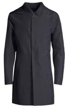 Corneliani Laser Cut Wool Raincoat