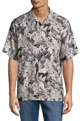 Tommy Bahama Leaves-Print Button-Down Shirt