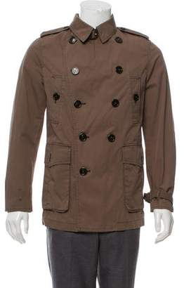Burberry Deconstructed Double-Breasted Peacoat