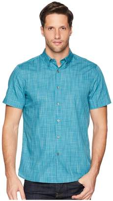 Perry Ellis Short Sleeve Space Dye Shirt Men's Clothing