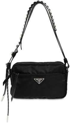 Prada Nylon Camera Bag W/ Studded Strap