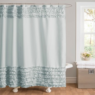 Lush Decor Skye Fabric Shower Curtain