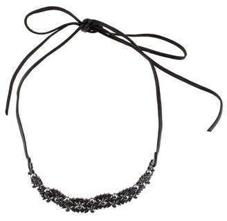 Fallon Faux Pearl & Crystal Dot Choker Necklace