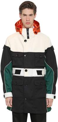 Valentino Hooded Color Block Parka