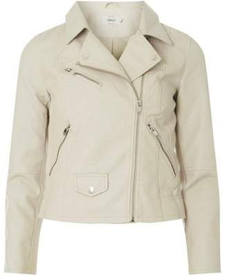 Dorothy Perkins Womens **Only Beige Leather Look Jacket