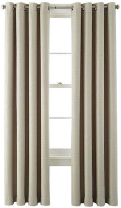 Martha Stewart MarthaWindowTM Hampton Basketweave Grommet-Top Curtain Panel