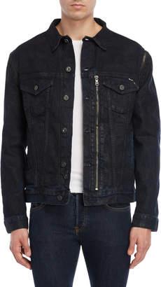 Cult of Individuality Dark Wash Coated Denim Jacket