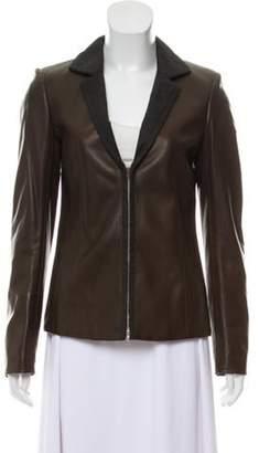 Loro Piana Leather Notch-Lapel Jacket Leather Notch-Lapel Jacket