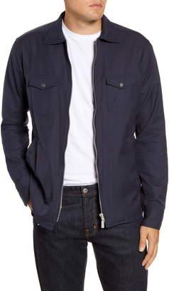 Eton Trim Fit Solid Zip Shirt Jacket