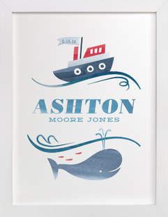 Ahoy Baby Children's Custom Art Print