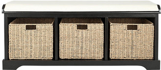 One Kings Lane Loren Storage Bench - Black/Ivory