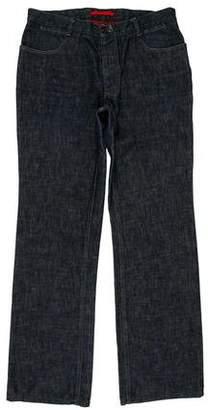 Prada Sport Woven Bootcut Jeans