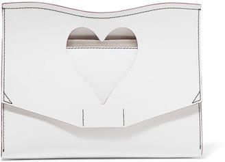 Proenza Schouler - Curl Cutout Leather Clutch - White $890 thestylecure.com