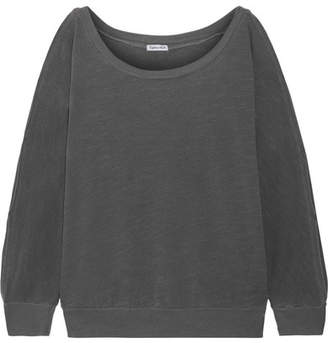 Splendid Pigment Cutout Cotton-jersey Sweatshirt - Anthracite