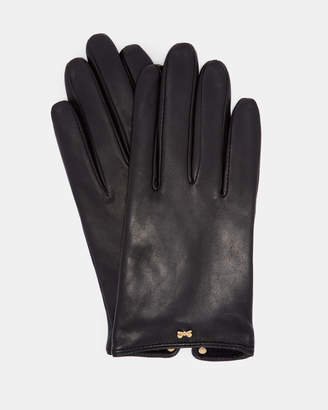 Ted Baker BOWSII Bow detail leather gloves