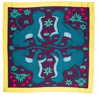 Hermes Les Léopards Silk Scarf