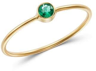 Rachel Zoe Zoë Chicco 14K Yellow Gold Emerald Bezel-Set Ring
