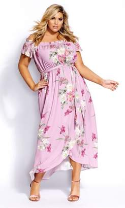 City Chic Citychic Pink Floral Maxi