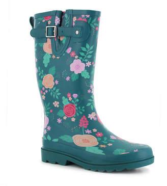 35546247d8b8b Western Chief Womens Bloom Boom Waterproof Flat Heel Pull-on Rain Boots
