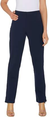 Women With Control Women with Control Tall Convertible Pants w/ Zipper Detail