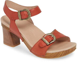 247506e5b7a Orange Block Heel Sandals - ShopStyle