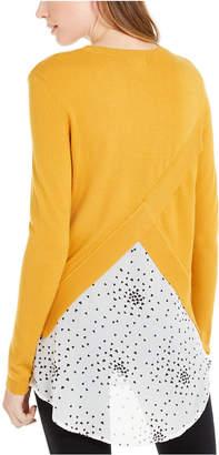 Maison Jules Contrast Envelope-Back Sweater