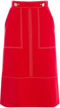 Karen Millen Contrast Stitch Midi Skirt